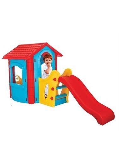 Pilsan Pilsan Kaydıraklı Mutlu Ev - Kaydıraklı Oyun Evi - Mavi - 06 432 Mavi